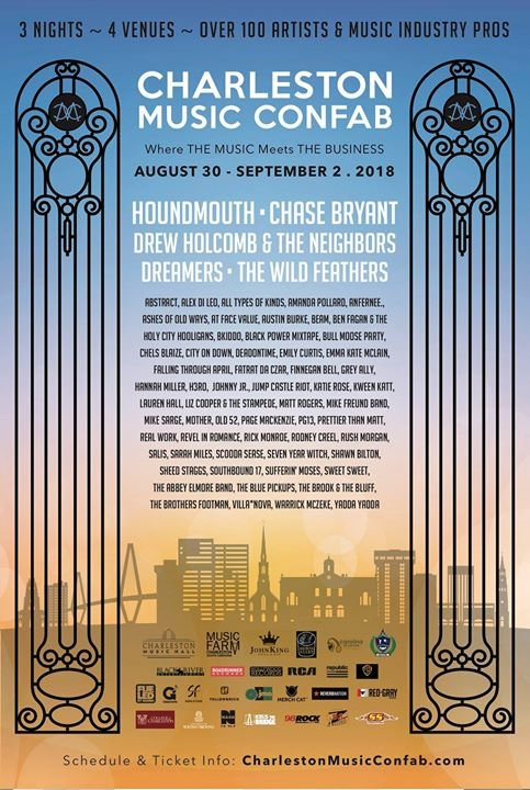 Charleston Music Confab 2018 event poster