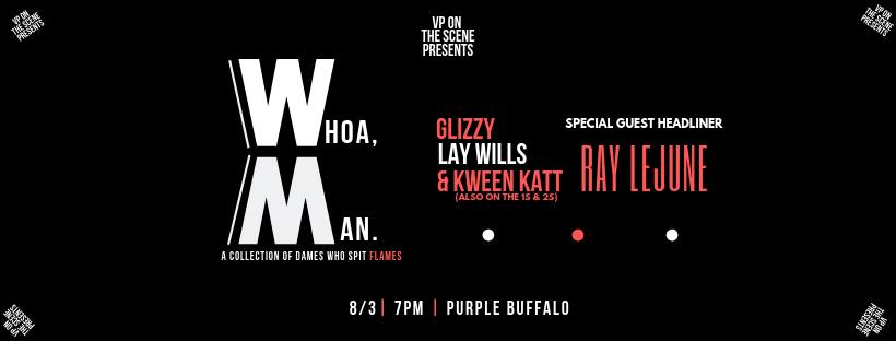 Female rapper showcase at The Purple Buffalo