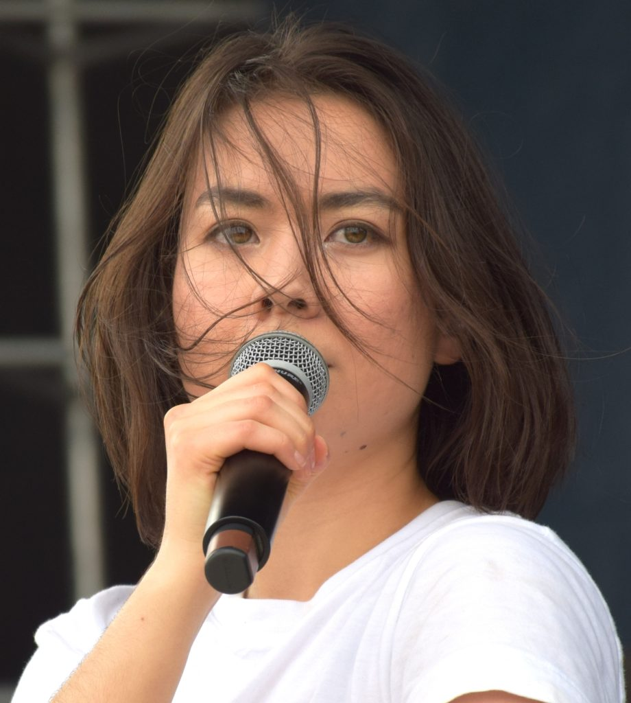Mitski singing at High Water Festival in Charleston